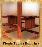 Picnic Table (Built in)