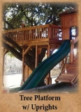 Tree Deck or Tree Platform with Uprights