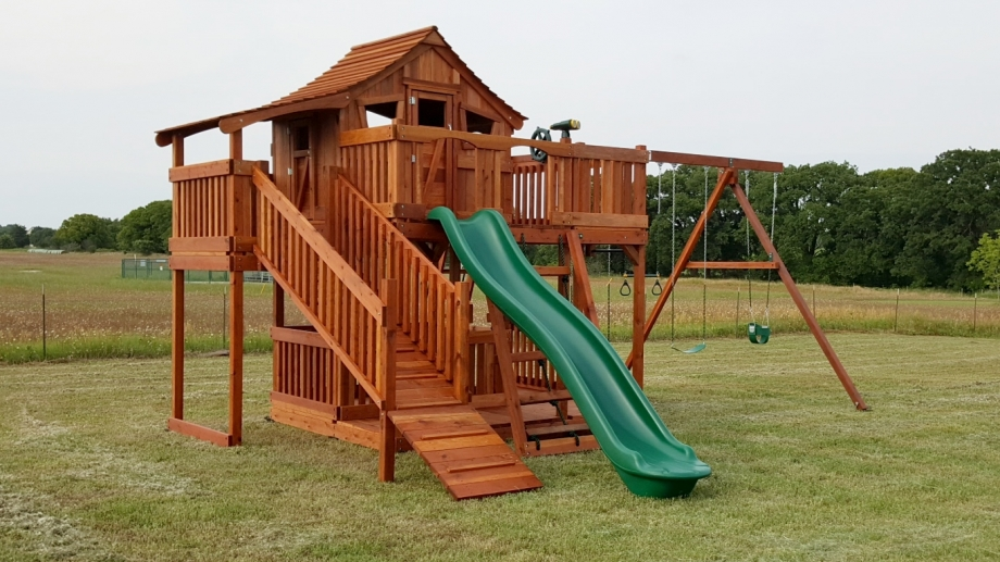 Fort Stockton Playset with wrap around porch