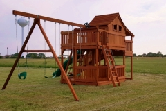 Fort Stockton Playset with wrap around deck