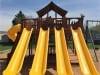 Fort Ticonderoga Swing Set Yellow Slides