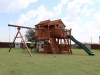 Fort Ticonderoga Tri-Level Swing Set Half Shack