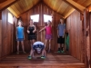 Fort Ticonderoga Tri-Level Swing Set Inside Cabins