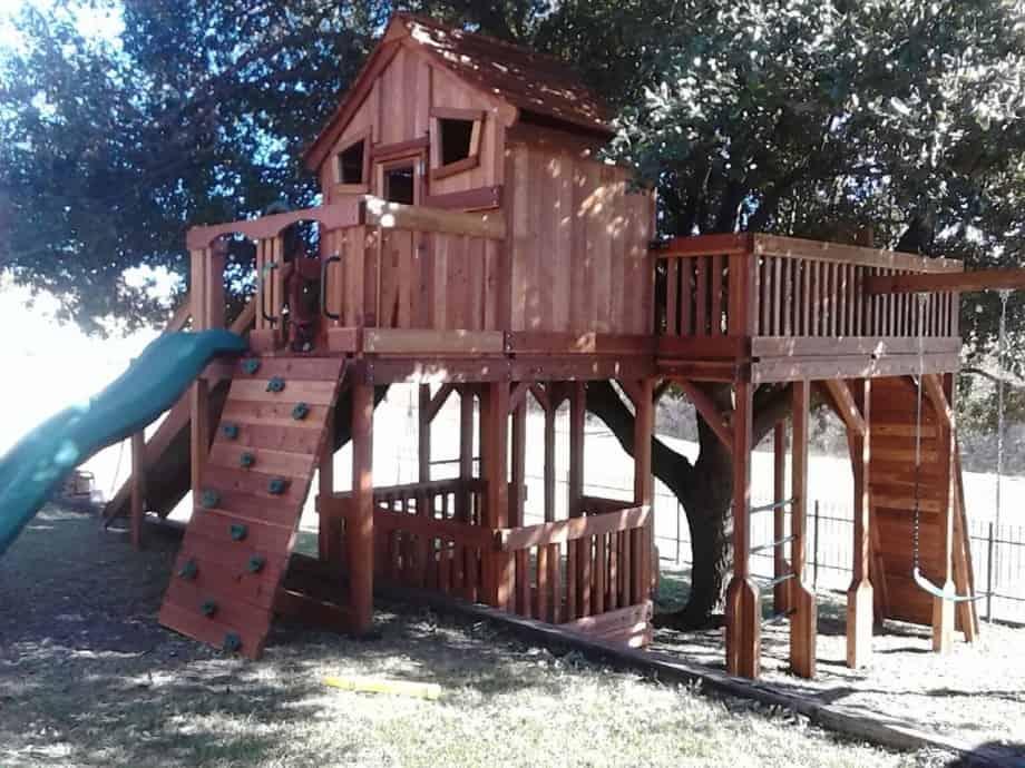 Fort Stockton Swing Set tree platform