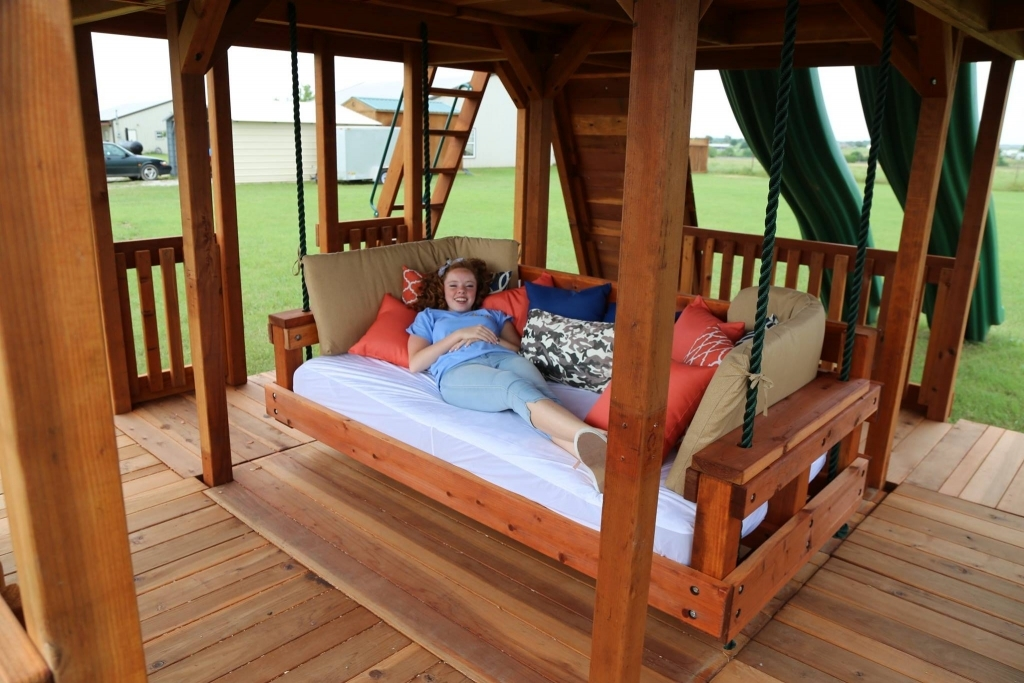 Outdoor Redwood Day Bed Swing