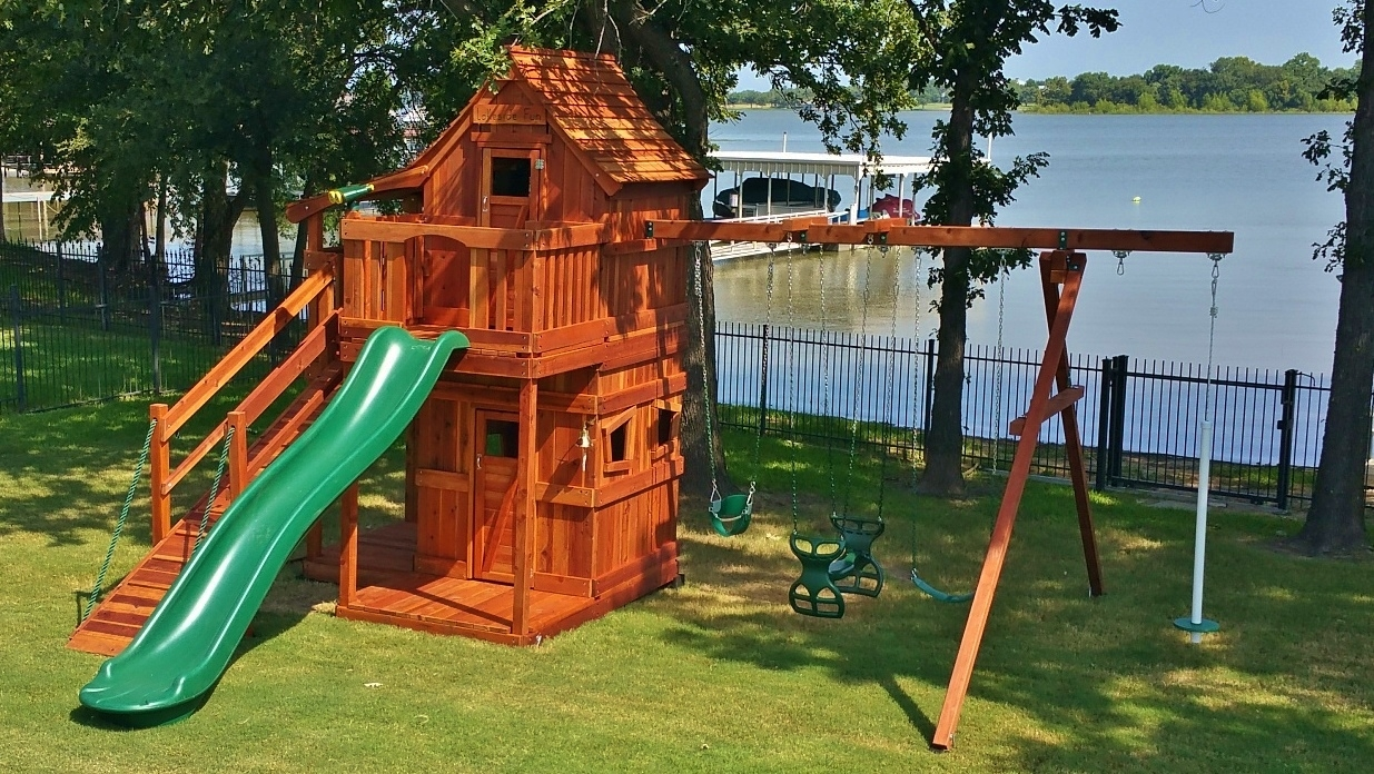 Mustang Swing Set with Upper and Lower Cabins