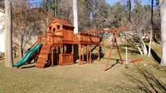 Fort Stockton Swing Set with Tree Deck