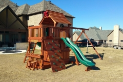 Maverick swing set with Fun Deck and Lower Cabin