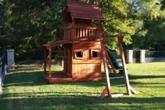 Maverick swing set with monkey bars lower cabin