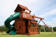 Mustang swing set with Twister Slide