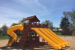 Ticonderoga Playset Yellow Slides