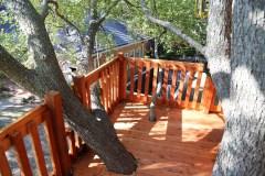 Tree Deck on Tree House fort