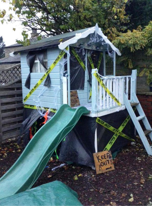 Make Your Own Haunted Playhouse Backyard Fun Factory