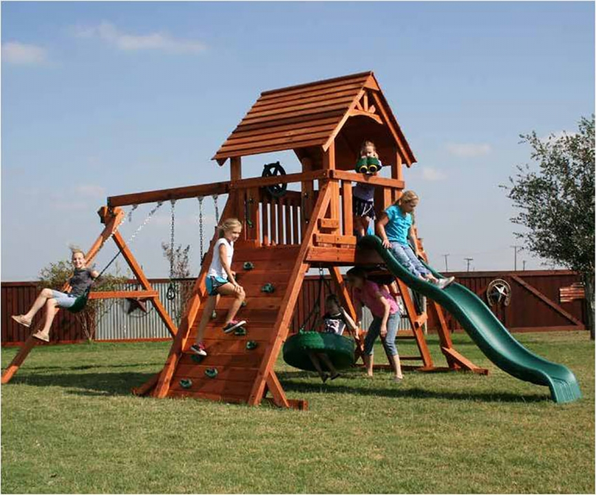 Fort Concho Swing Set Backyard Fun Factory