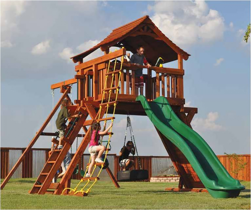 Fort Ranger Swing Set Backyard Fun Factory