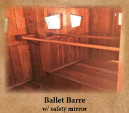Ballet Barre with Safety Mirror