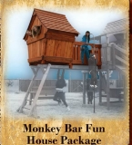 Monkey Bar Fun House Package