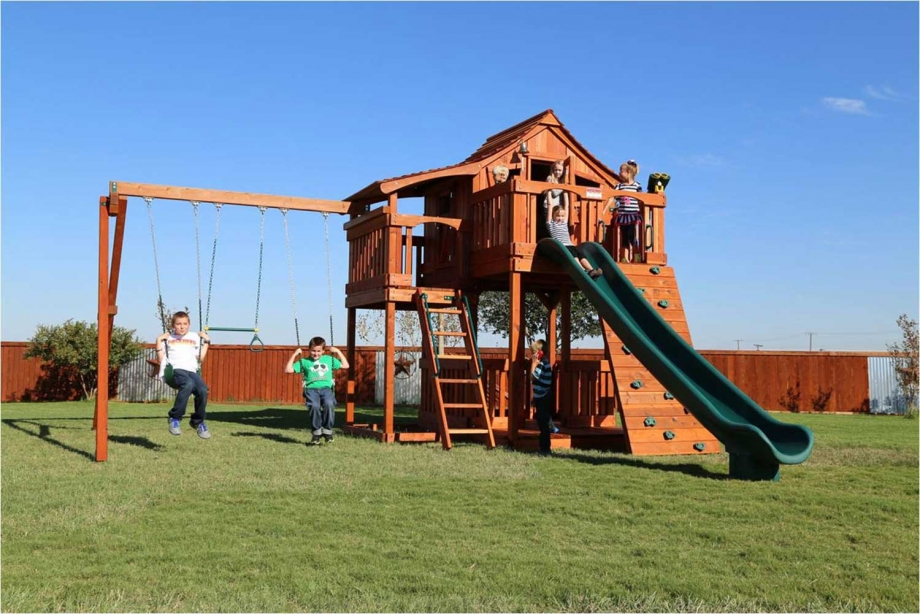 Fort Stockton Swing Set – Half Shack - Fort Stockton Swing Set - Half Shack Backyard Fun Factory
