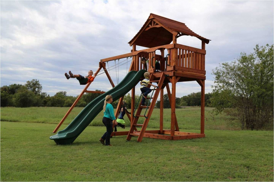 Fort Stockton Swing Set - Fort Stockton Swing Set Backyard Fun Factory