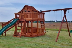 Fort Stockton Swing set with wrap around deck