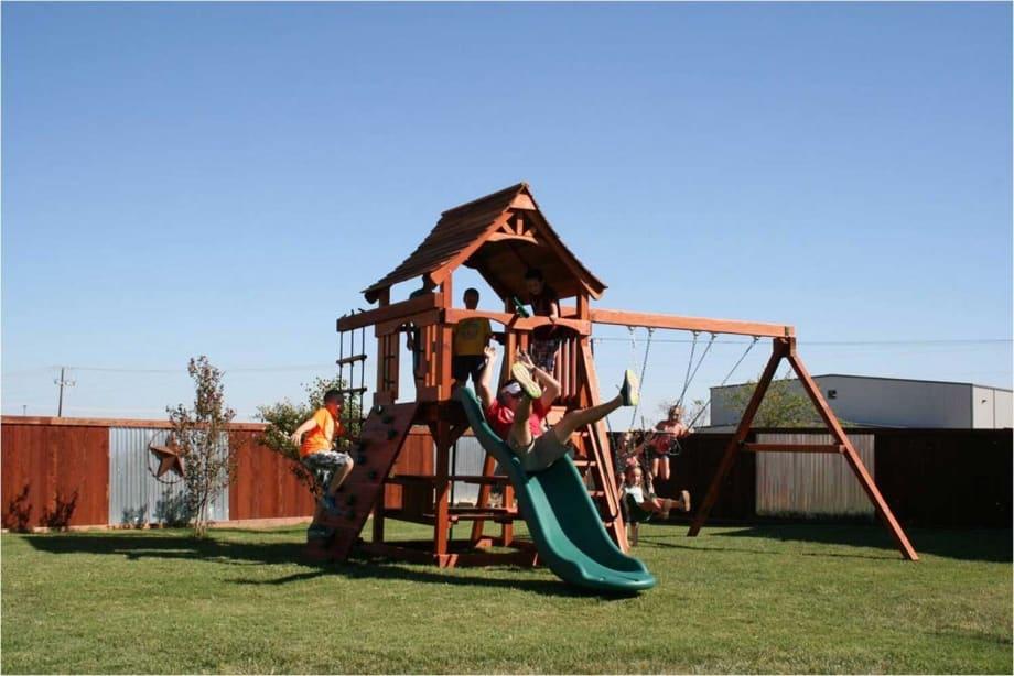 Fun Shack Swing Set Rope Ladder Backyard Fun Factory