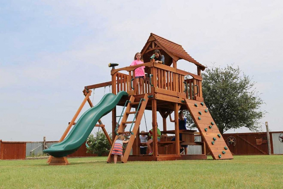 Maverick Swing Set Fun Deck Backyard Fun Factory