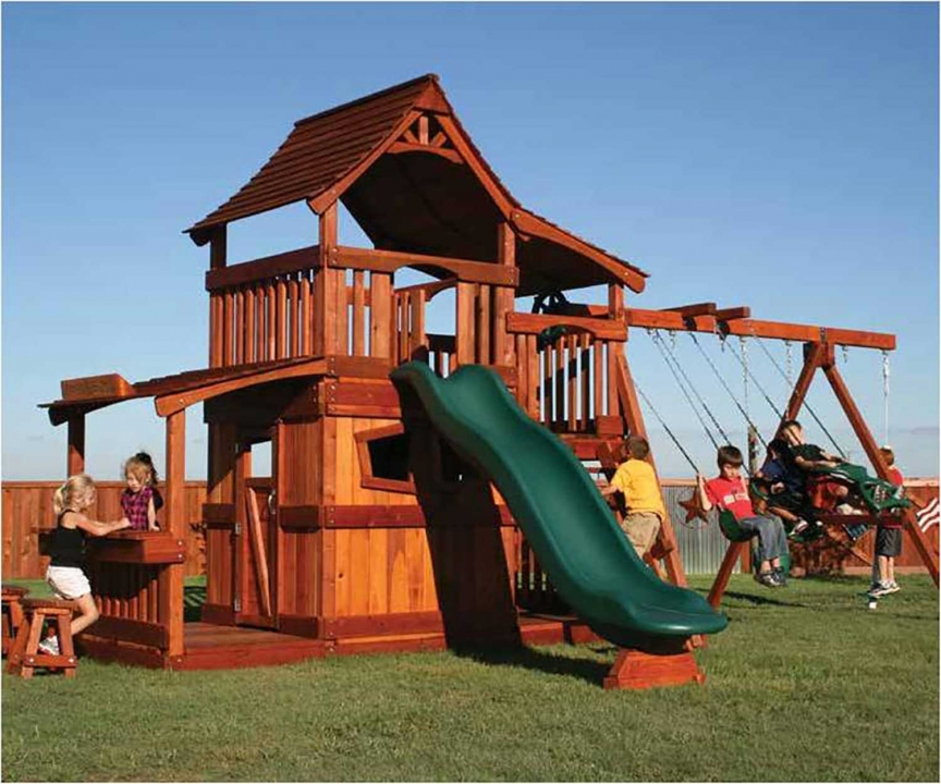 Maverick Swing Set – Half Shack – Lower Cabin - Maverick Swing Set - Half Shack - Lower Cabin Backyard Fun Factory