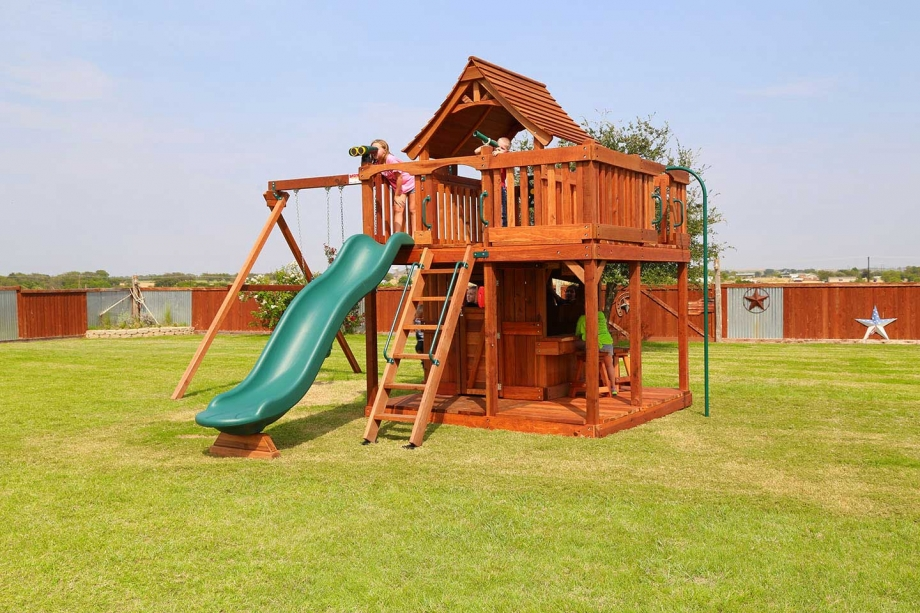 Maverick Swing Set – Wrap Around Porch - Maverick Swing Set - Wrap Around Porch Backyard Fun Factory
