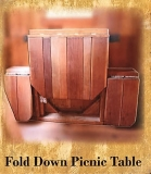 Fold Down Picnic Table