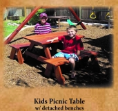 Kids Picnic Table detached Benches