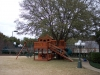 Custom Fort Stockton swing set tree deck