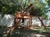 Tree Deck with Zip Line Swing Beam