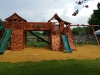 Bridged Fort Stockton Swing Set- Upper Cabin- Twister Slide