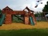 Bridged Fort Stockton Swing Set- Upper Cabin- Twister Slide