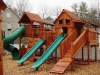 Bridged Mustang Swing Set - Tube Slide