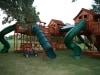 Custom Fort Stockton swing set twister slides