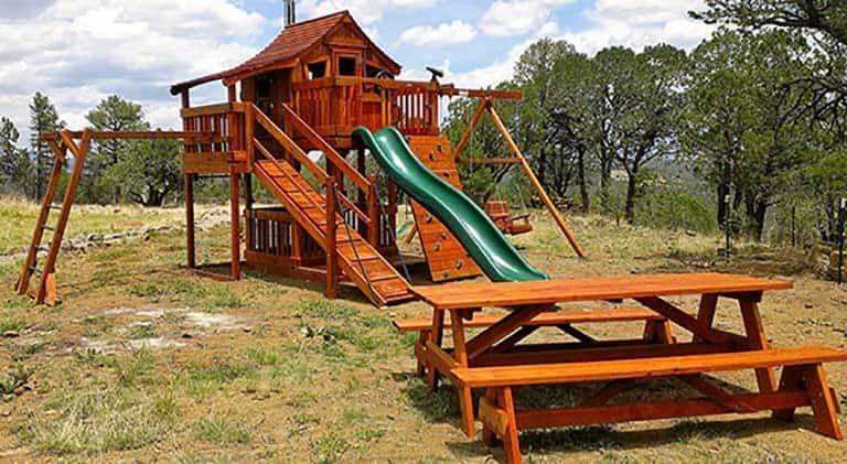 Multi Level Swing Sets Backyard Fun Factory