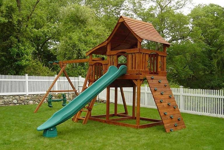Multi Level Swing Sets Backyard Fun Factory