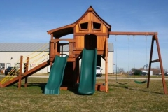 Maverick Upper Cabin Half Shack Swing Set