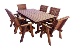 Rectangle Table (shown with 6 Lowback Chairs)