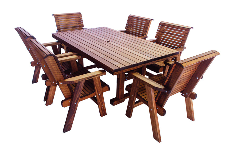 Rectangle Table Shown With 6 Lowback Chairs