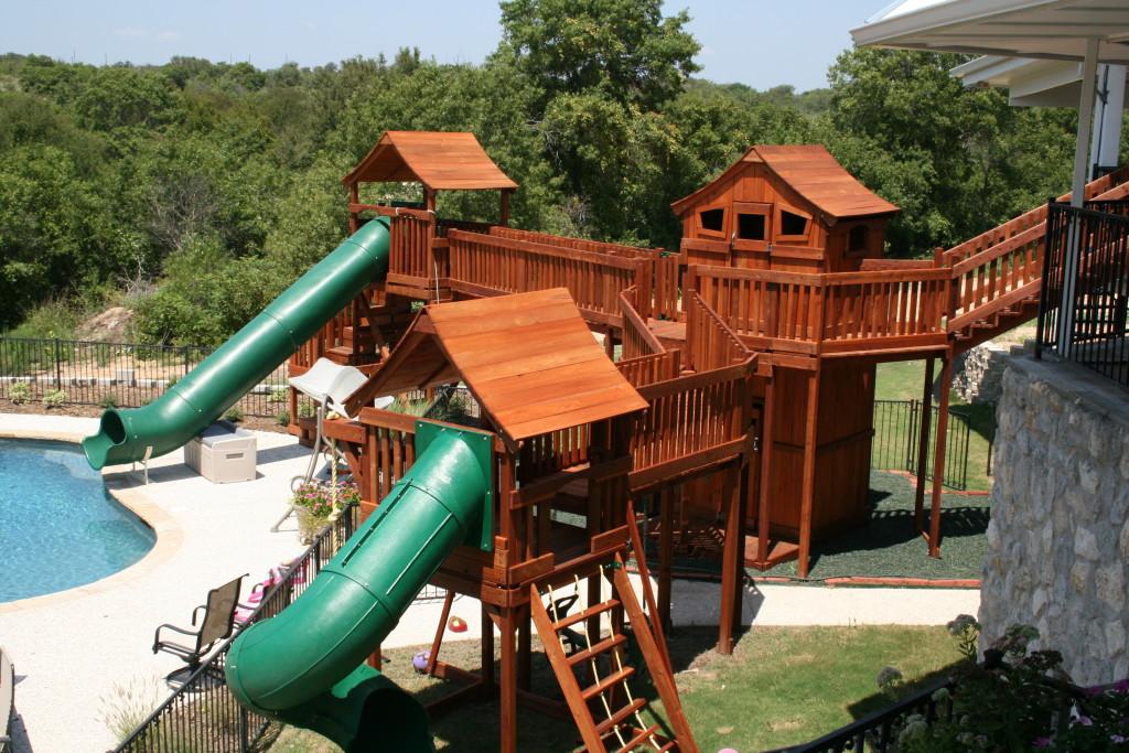 Custom Backyard Swing Sets Treehouses