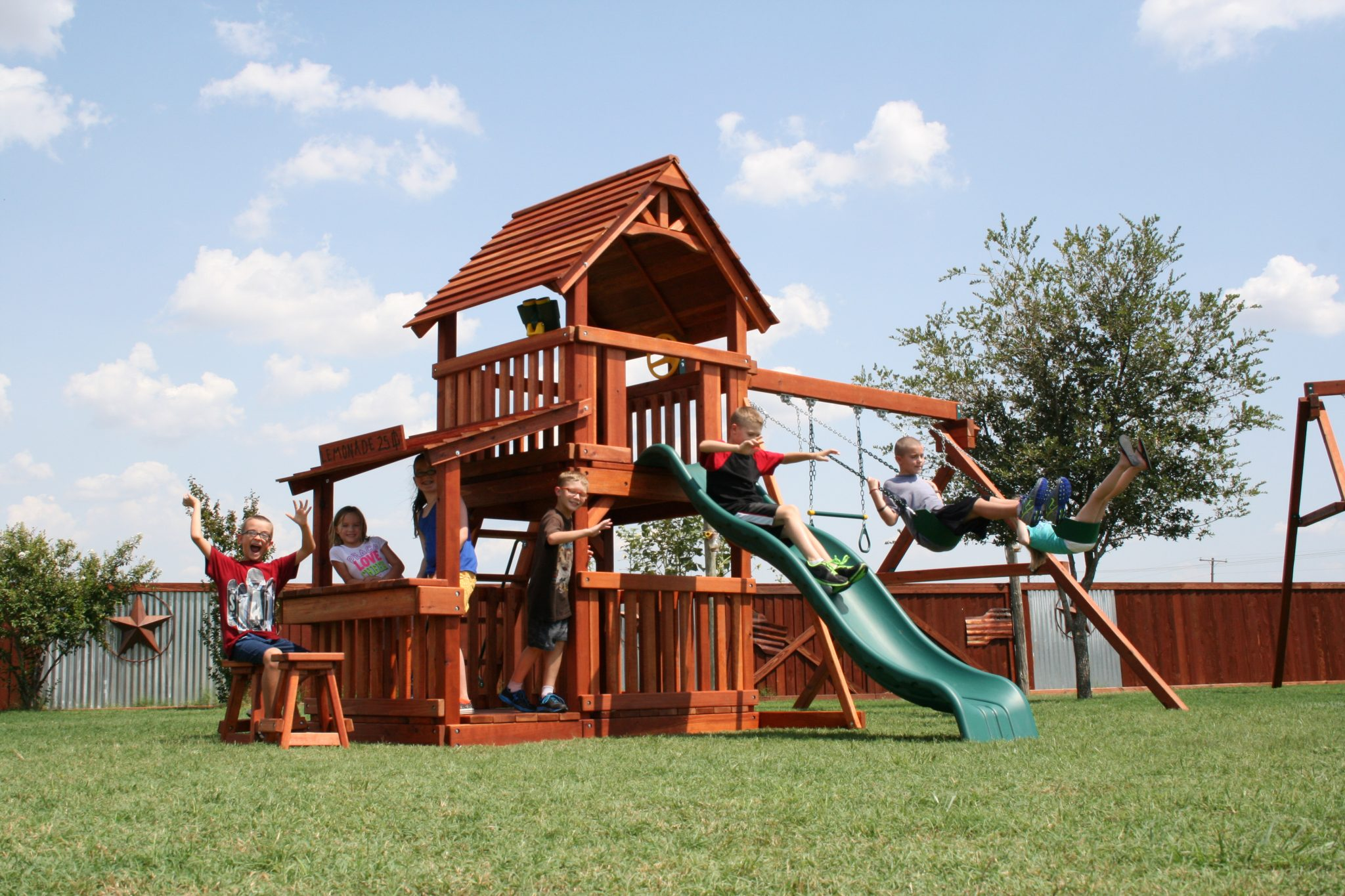 what are the benefits of installing a backyard playground