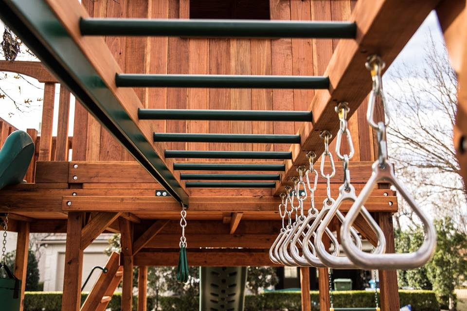Maverick Swing Set - Wrap Around Porch | Backyard Fun Factory